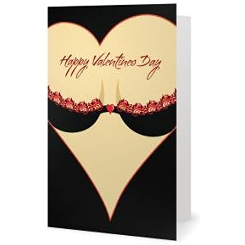 Valentines Day Spouse Husband Friend Sweetheart Sexy Fun Love Greetiing Card (5x7) by QuickieCards. Always Fast Sales