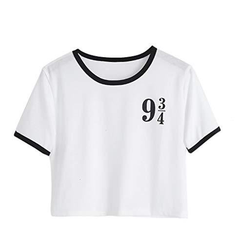 Gilet Unie Top Manche shirt Lettre Couleur Été Blanc Court Décoration T Courte Paragraphe Rond Yebiral Homme Col Chemise ASaaZ