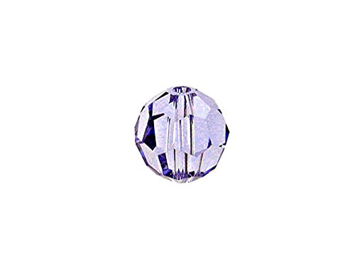 Faceted Round Swarovski Crystal Bead - Swarovski 5000 Round Crystal Faceted Beads Provence Lavender | 6mm | Small & Wholesale Packs | Pack of 24