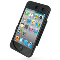 PDair Aluminum Metal Case for Apple iPod Touch 4th (8GB/32GB/64GB) - Open Screen Design (Black)