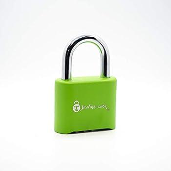Image of Combination Padlocks DaVinci Lock Pad Lock - Green 10 Pack