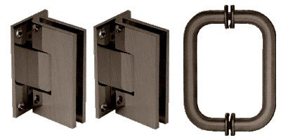 Crl Shower Door Hinge (C.R. LAURENCE V1ES30RB CRL Oil Rubbed Bronze Vienna Shower Pull and Hinge Set)