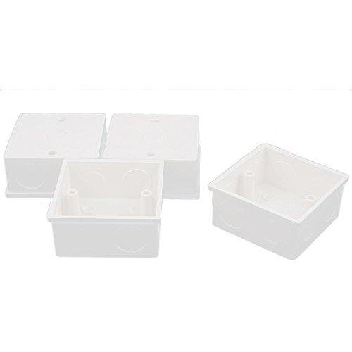 Case Pvc Square - uxcell 4 Pcs 86mm x 86mm x 40mm Square Design PVC Switch Pattress Back Box