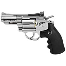 ASG 18101 Dan Wesson 2.5-Inch CO2 Powered Pellet Air-Revolver, Silver