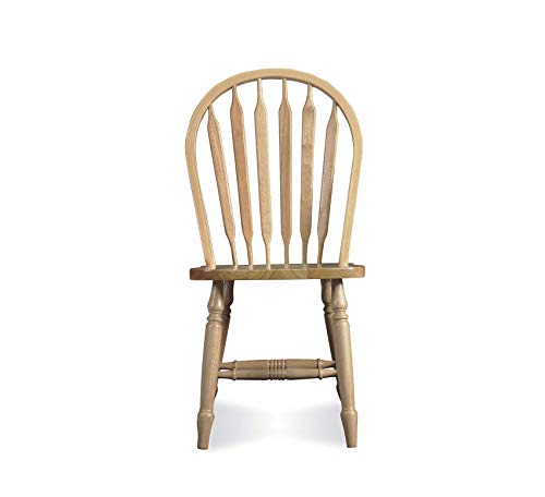 Wood & Style Furniture Windsor Arrow Back Chair, Unfinished Home Office Commerial Heavy Duty Strong Décor