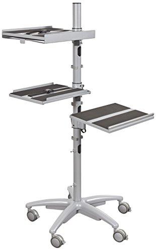 Balt Alpha Laptop Cart - Height Adjustable Mobile Workstation (27588) - Mobile Security Cart