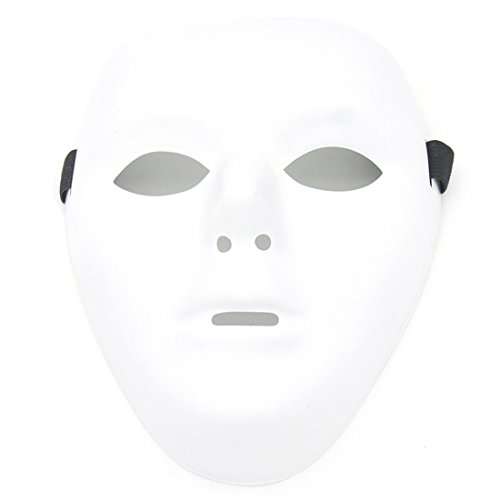 Kvvdi Male Scary White Blank Face Masks for Halloween DIY]()