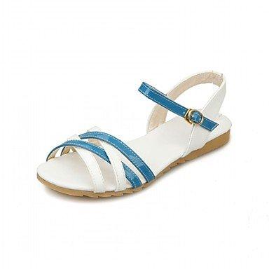 RUGAI-UE Moda de Verano Mujer sandalias casuales zapatos de tacones PU Confort caminar al aire libre,Negro,US4-4.5 / UE34 / REINO UNIDO2-2.5 / CN33 Blue