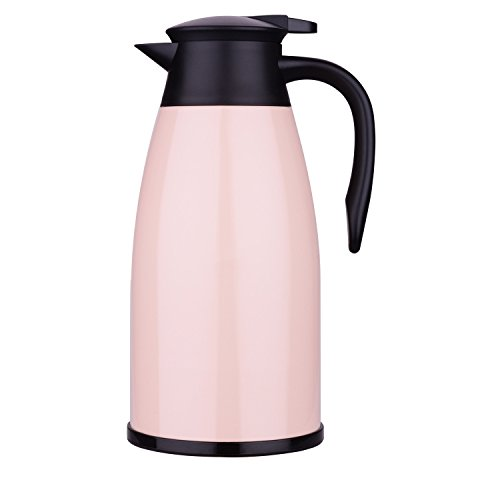 Pink Carafe - 2 Litre Thermal Carafe For Stainless Steal / Thermal Coffee Carafe / 24 Hour Heat Thermos