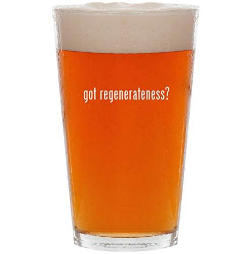 got regenerateness? - 16oz Pint Beer Glass (Serum Skin Wexler Regenerating)