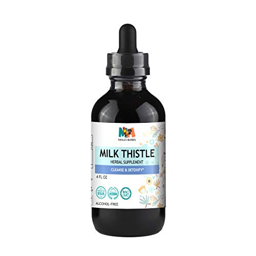 Milk Thistle Tincture Alcohol-Free Liquid Extract, Organic Milk Thistle Seed (Silybum marianum) (4 FL OZ) (Milk Thistle Extract Alcohol Free)