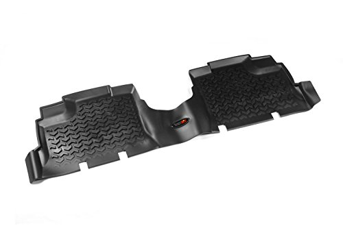 Row Floor Liner (Rugged Ridge All-Terrain 12950.01 Black Second Row Floor Liner For Select Jeep Wrangler Unlimited Models)