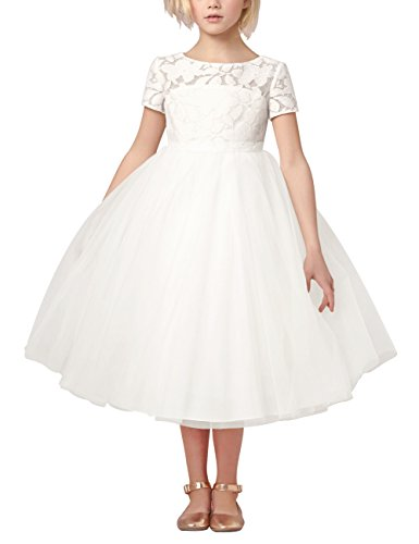 iiniim Kids Girls Heart Shape Back Princess Pageant Wedding Party Flower Girl Dress 6 Satin Graduation Dress