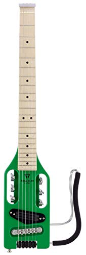 Ultra-Light Electric Travel Guitar w/Gig Bag (Slime Green)