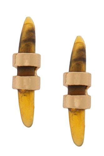 Horn Clip Earrings - 6