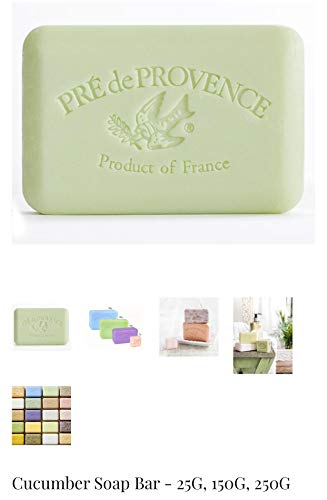 Case of 12 Pre de Provence CUCUMBER scent 250 gram shea butter extra large soap ()