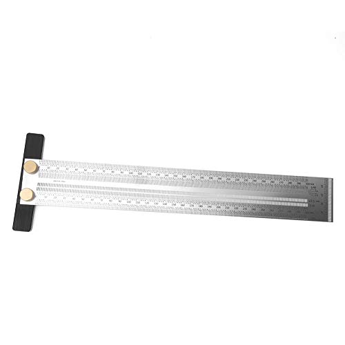 Goick Woodworking Ruler-200mm Woodworking Alloy Steel Scribing Angle Ruler Woodworking Drawing Scribing Measuring Tool