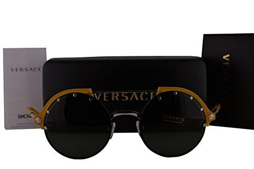 Versace VE4337 Sunglasses Yellow w/Green Lens 525271 VE - Sunglasses Versace Women's Sale