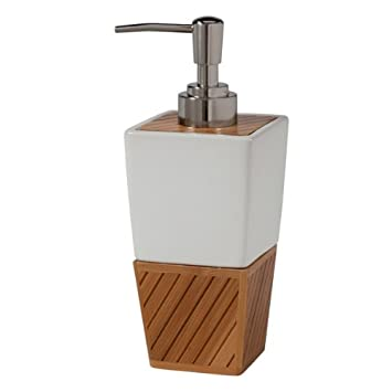 Spa Bamboo Bath Accessory, Lotion Pump