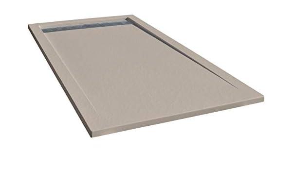 Plato de ducha de resina Construlanding con carga mineral 70x180 ...