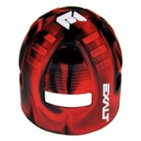 Exalt Paintball Carbon Fiber Tank Grip Cover For All Sizes - Black/Red Swirl (Grip Tank Paintball Exalt)