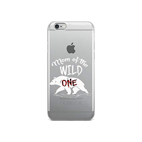 iPhone 6/6s Pure Clear Case Crystal Clear Cases Cover Womens Mom of The Wild One Bear Lumberjack 1st Birthday Transparent]()
