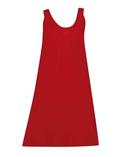 Plus Size Red Solid Knit Maxi Dress --Size: one size Color: Red