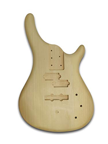 Unfinished Electric PJM Bass Guitar Body, Bass Wood Made Body - Body Made