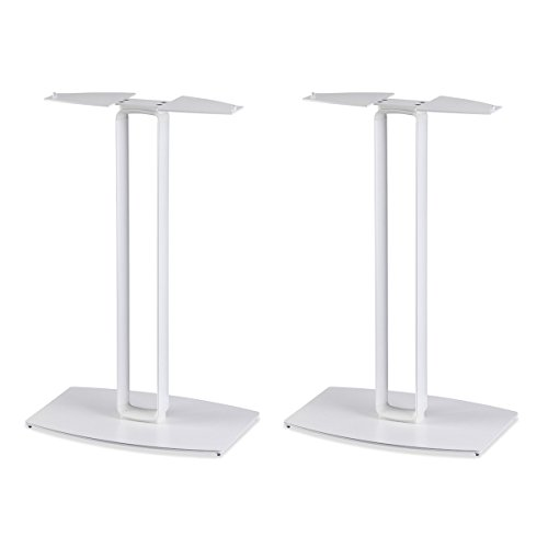 SoundXtra Floor Stands for Bose SoundTouch 30 - Pair (White) by SoundXtra