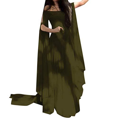 MILIMIEYIK Blouse Womens Irish Medieval Dress Renaissance Costume Retro Gown Cosplay Costumes Fancy Long Dress White-XL]()