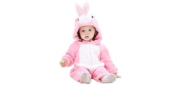 Disfraz de pijama rosa de conejita sin pies de vellón tamaño 90 cm ...