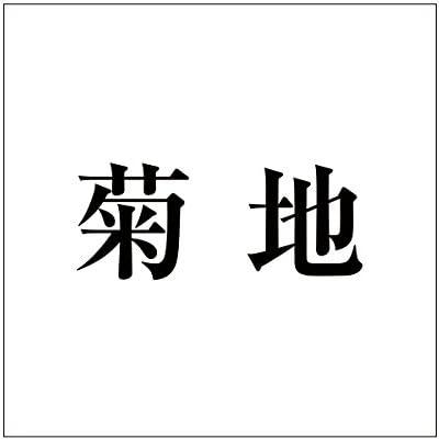 切文字 カッティングシート 明朝文字 ブラック 160×160mm表札板用 菊地 オーダーメイド 納期8営業日