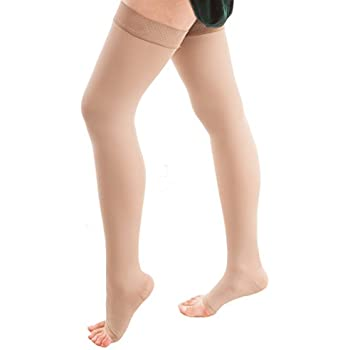 Open Toe Strong Compression 25-30 mmHg Gartner Belt Req ITA-MED Thigh Highs