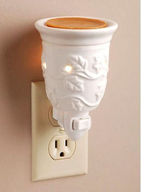 Ceramic plug-in night light aroma wax melter by Darice by Darice