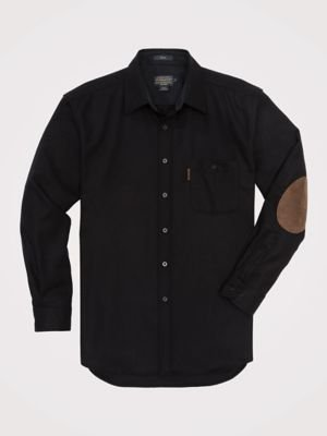 Classic Tall Wool - Pendleton Men's Long Sleeve Button Front Classic-Fit Trail Shirt, Black Flannel-20042, LG
