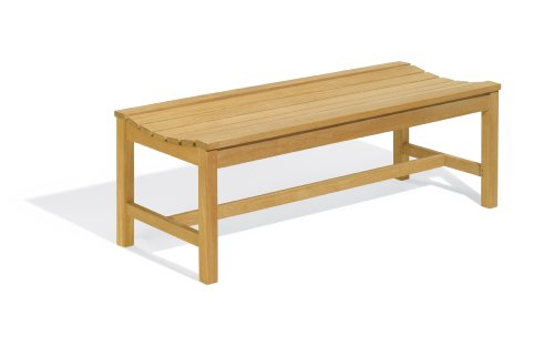 Oxford Garden 4-Foot Shorea Backless Bench 4' Backless Teak Bench