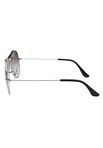 bbce9d3011 Ray-Ban RB3138-003-32 Aviator Shooter Silver-Tone Sunglasses  Amazon.co.uk   Clothing