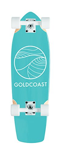 GoldCoast Skateboard - Complete Longboard - Classic Cruiser Turquoise 28.5'' by Gold Coast Skateboards