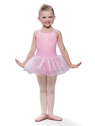 Revolution Recital Dance Costumes (Sparkle Dance Tutu Dress Pink or Lavender (Light Pink,)