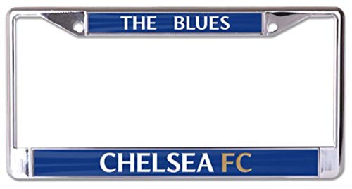 Wincraft English Premier League Chelsea FC Premium License Plate Frame, Chrome Metal with Acrylic Inlay