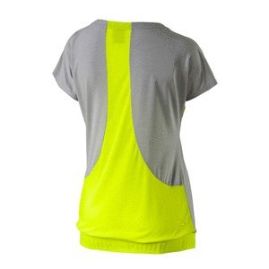 Camiseta de mujer Transition amarilla y gris transpirable fitness running �?Puma
