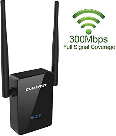 (New Version) COMFAST WiFi Range Extender - 300Mbps Wireless Router Range  Extedder with 360 Degree Dual Antenna WiFi Repeater