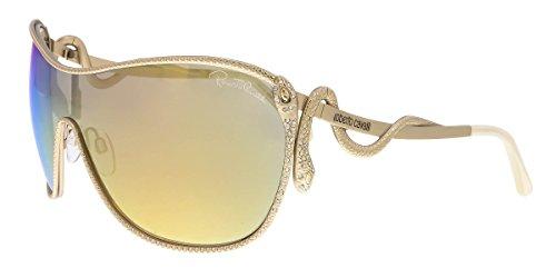 Roberto Cavalli Sunglasses Miaplacidus 908S 28C 120x02 Rose Gold / Gold Mirror Snake - Snake Sunglasses Cavalli Roberto