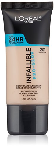L'Oréal Paris Infallible Pro-Glow Foundation, Classic Ivory, 1 fl. oz.