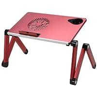 Soğutuculu Portatif Alüminyum Laptop Sehpası-Notebook Masası (Kırmızı)
