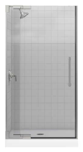 - Kohler K-705702-L-NX Purist Heavy Glass Pivot Shower Door, 36 1/4