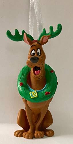 2018 Hallmark Scooby-Doo Reindeer with Wreath Christmas Holiday Ornament ()