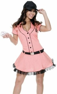 Old Baseball Player Costume (Sexy Old Time Baseball Player Costume (Size: Medium: 6-9))