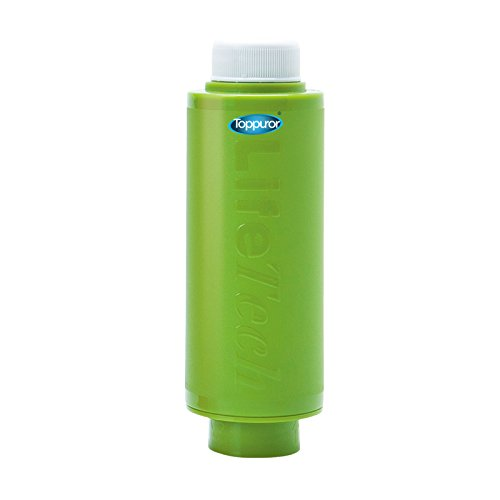 Toppuror Apple Green antibacterial silver carbon + Resin straw - Portable Mineral Filter, suitable for travel, mountain climbing, school, home , hotel, hostel by Toppuror