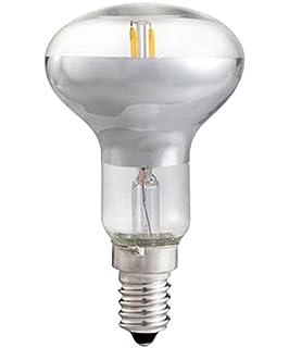Hepoluz Bombilla R50 con Filamento LED, Luz Cálida E14, 5 W, Amarillo